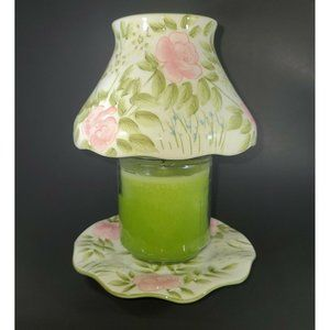 Yankee Candle Floral  Four Footed Plate & Shade